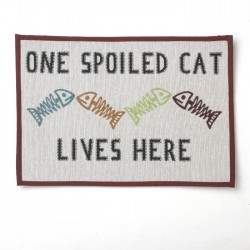 Petrageous One Spoiled Cat Tapestry Placemat