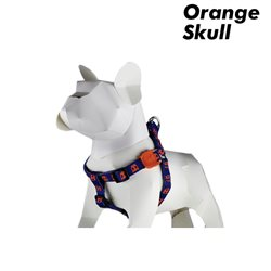 Zee.Dog Orange Skull Harness