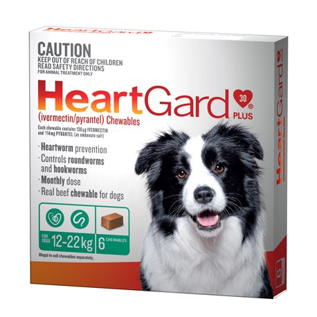 Heartgard Plus Medium 12-22KG Green