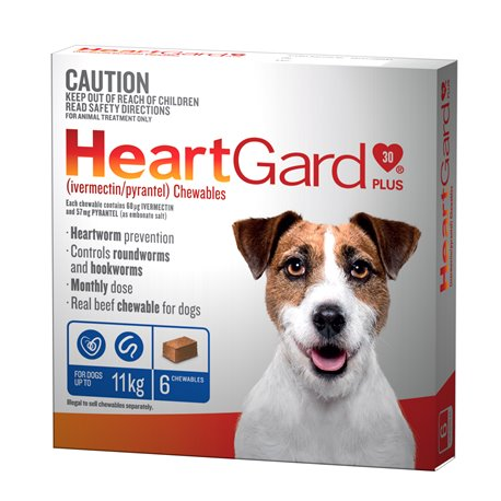 Heartgard Small 0-11KG Blue