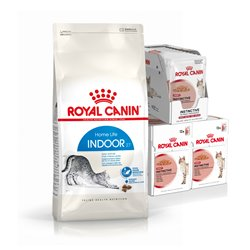 Royal Canin Feline Indoor Dry (4kg) & Wet (36 Pouch) Bundle