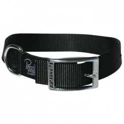 "Single Layer Nylon Collar Black 1"" Width"