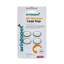 Aristopet All Wormer For Large Dogs 20kg Tabs
