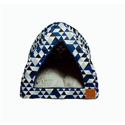 Mog & Bone Cat Igloo - Diamond Print - Navy