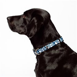 Mog & Bone Blue Diamond Neoprene Dog Collar