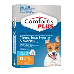 Comfortis Plus Orange 4.9-9kg 6 Pack