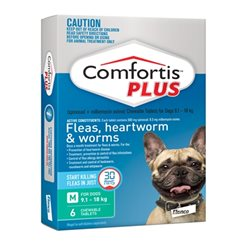 Comfortis Plus Green 9.1-18kg 6 Pack