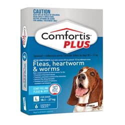 Comfortis Plus Blue 18.1-27kg 6 Pack