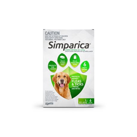 Simparica Large Dog 20.1-40kg Green