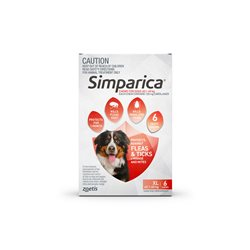 Simparica Extra Large Dog 40.1-60kg Red (6 Chews)