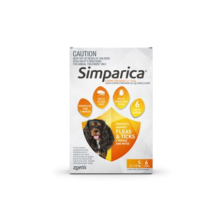 Simparica Small Dog 5.1-10kg Brown (6 Chews)
