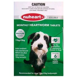 NuHeart Medium Dog 11-23kg Green