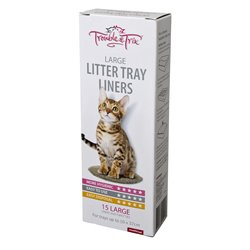 Trouble & Trix Large Litter Liners 15 Pack