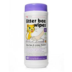 Petkin LITTER BOX WIPES - 40pk