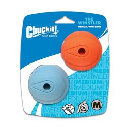 Chuckit Whistler Ball Medium (6cm) 2 Pack