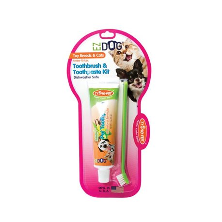 TriplePet Toothbrush & Paste For Toy Breeds/Cats