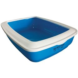 Scream Rectangle Litter Tray Loud Blue 50x35x14cm
