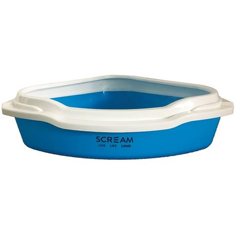 Scream Corner Litter Tray Loud Blue 55x43x17cm
