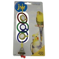 JW Insight BIRD TOY TRIPLE MIRROR WITH BELL