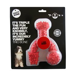 Tasty Bone Nylon Trio Beef Dog Chew Toy