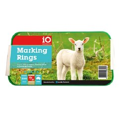 iO Marking Rings x 500 For Carstration of Lambs, Calfs, Small Cattle, Sheep