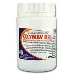 Mavlab Oxymav B Soluble Broad Spectrum Antibiotic For Birds 100g