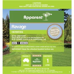Apparent Ravage Broad leaf Bindi CapeWeed Killer Herbicide (Kamba M) 1L - 5L