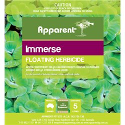 Apparent Immerse Floating Herbicide 5L Water Lettuce & Salvinia Poison