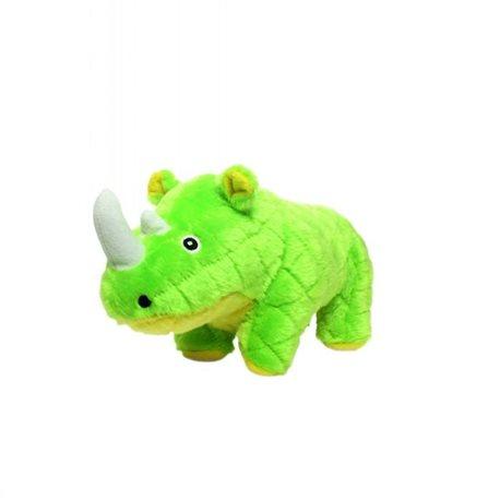 Tuffy Mighty Toy Safari Series Rhoni The Rhino Green