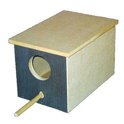 Bird Nest Small Parrot Box For Breeding Timber Wood Design