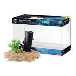 Blue Planet Aquarium Kit 16L with Filter, Gravel & Plant