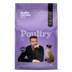 Healthy Everyday Pets Feline Poultry Dry Food 3kg