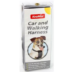 KraMar Purina Dog Car & Walking Harness Extra Large