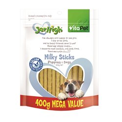 VitaPet Jerhigh Milky Sticks Puppy & Dog Treats 400g