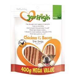 VitaPet Jerhigh Chicken & Bacon Puppy & Dog Treat 400g