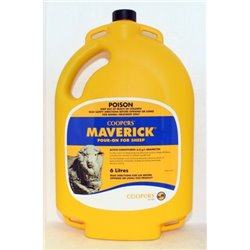 Coopers Maverick Pour On Lice & Worm Control For Sheep 6L