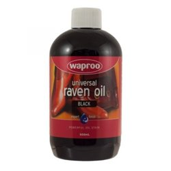 Waproo Raven Oil Leather Dye Black 500ml For Boots & Saddle