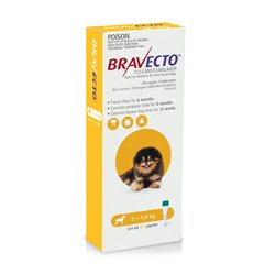 Bravecto For Dogs Spot On 2-4.5kg Yellow Single Pack