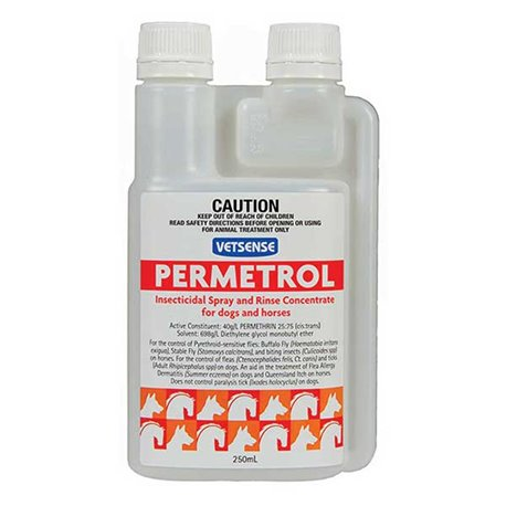 Vetsense Permetrol Insecticidal Spray For Dogs & Horses 250ml & 1L