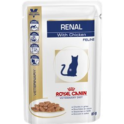 Royal Canin Feline Veterinary Diet Renal Wet Pouches 85g x 12