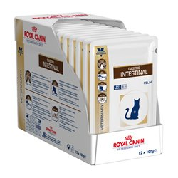 Royal Canin Feline Veterinary Diet Gastrointestinal Wet Pouches 100g x 12