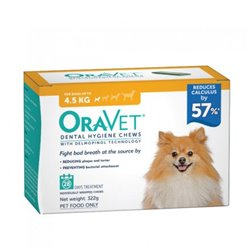 Oravet Extra Small Dog Dental Chews 28 Pack