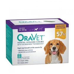 Oravet Medium Dog Dental Chews 28 Pack