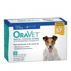 Oravet Small Dog Dental Chews 28 Pack