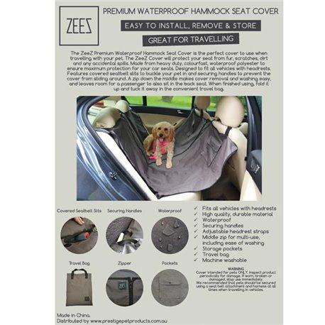 ZeeZ Car Seat Cover Hammock Premium Waterproof 140 x 142cm