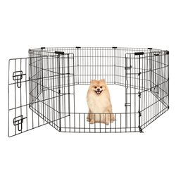 Yours Droolly Exercise Pen with Door 24in