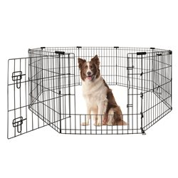 Yours Droolly Exercise Pen with Door 36in