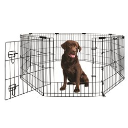 Yours Droolly Exercise Pen with Door 42in