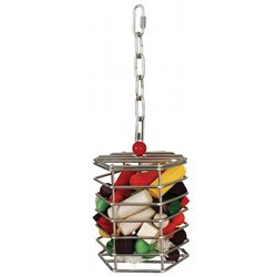 Stainless Steel Baffle Cage Large 15x15cm Bird Toy