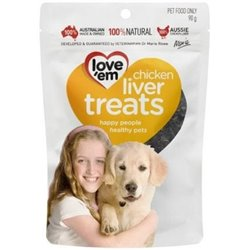 Love Em Chicken Liver Treats 90G